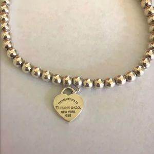 Tiffany & Co. Jewelry - Return to Tiffany sterling silver beaded bracelet.